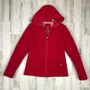 Esprit Outerwear red quilted jacket size medium